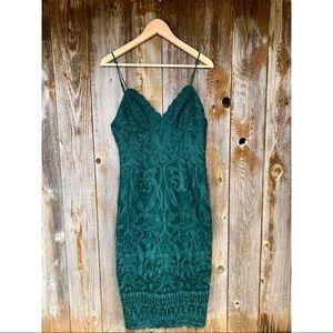 REVOLVE BARDOT gia lace pencil dress evergreen size 8/ medium